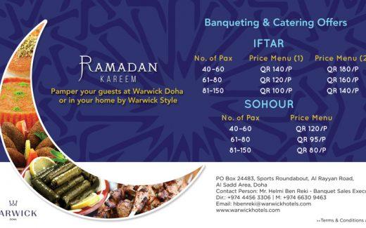 Ramadan Iftar Warwick Doha Qatar